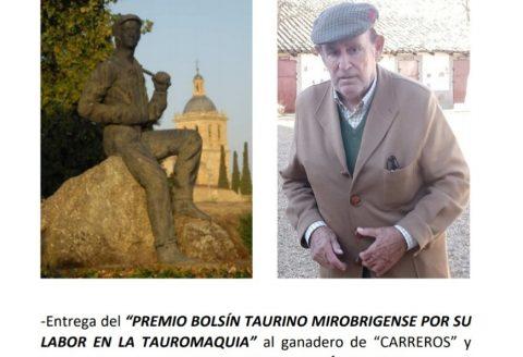 JUAN CARLOS  MARTÍN APARICIO, PREMIO BOLSÍN TAURINO A LABOR EN TAUROMAQUIA.